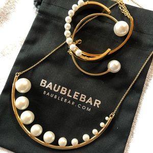 Baublebar pearl necklace bracelet set